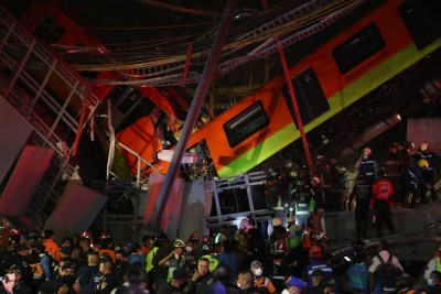 23 dead in Mexico City underground rail bridge collapse