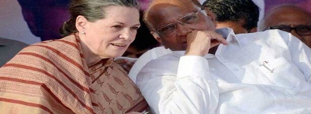 Sharad Pawar meets Sonia Gandhi to hold talks over Congress-NCP-Shiv Sena goverment in Maharashtra