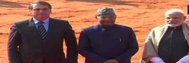 Brazilian Prez given ceremonial welcome in Rashtrapati Bhavan