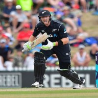 Guptill bludgeons New Zealand to rain-affected win