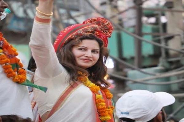 भाजपा उम्मीदवार सोनाली ने मांगी माफी -भारत माता की जय वाले बयान पर जताया खेद